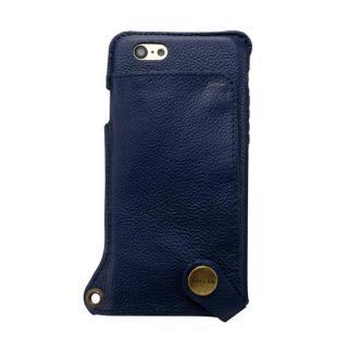 ビジネスシーンに大活躍 BZGLAM ウェアラブル 牛革ケース ネイビー iPhone 6s/6ケース