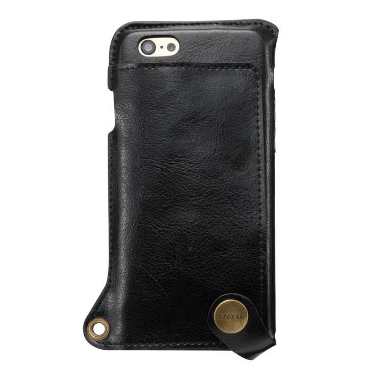 ビジネスシーンに大活躍 BZGLAM ウェアラブル 牛革ケース ブラック iPhone 6s/6ケース