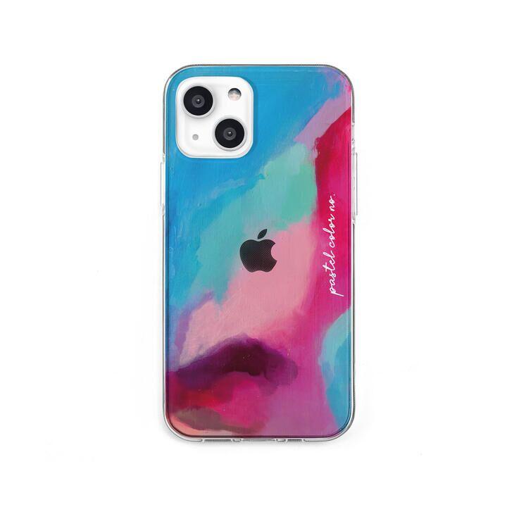 ソフトクリアケース Pastel color PINKBLUE iPhone 13 mini【10月上旬】_0
