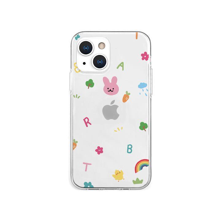 ソフトクリアケース pink usagi iPhone 13 mini【10月下旬】_0