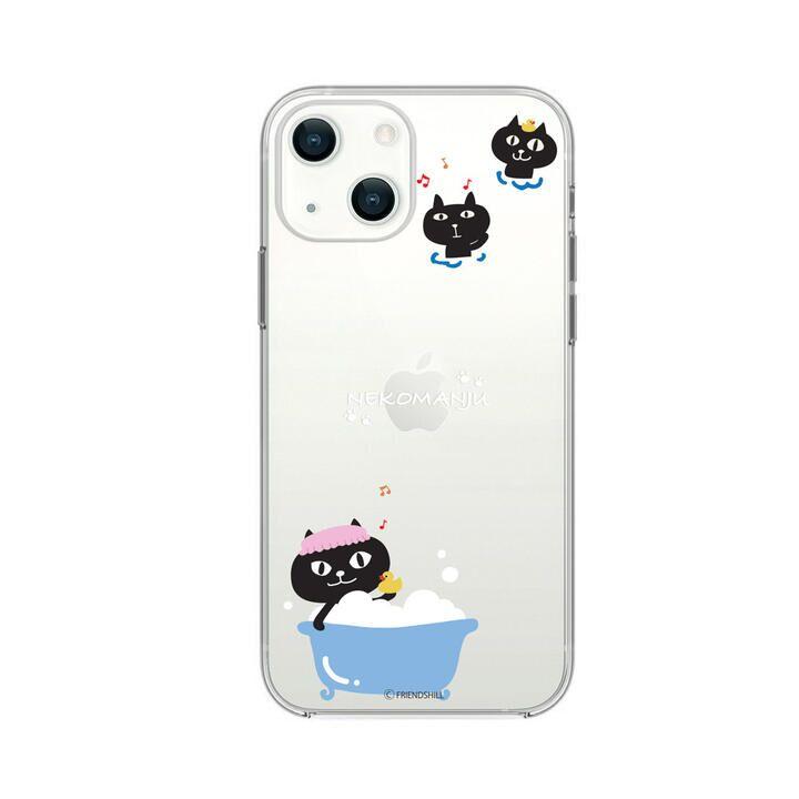 ネコマンジュウクリアケース バスタイム iPhone 13【10月上旬】_0