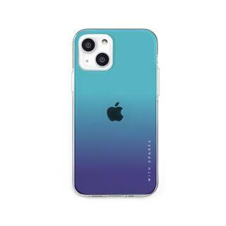 iPhone 13 mini (5.4インチ) ケース ソフトクリアケース グラデーション エメラルドブルー iPhone 13 mini【10月下旬】
