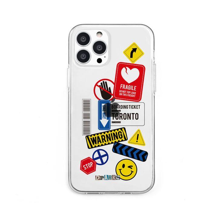 ソフトクリアケース TAG STICKER Warning iPhone 13 Pro【10月上旬】_0