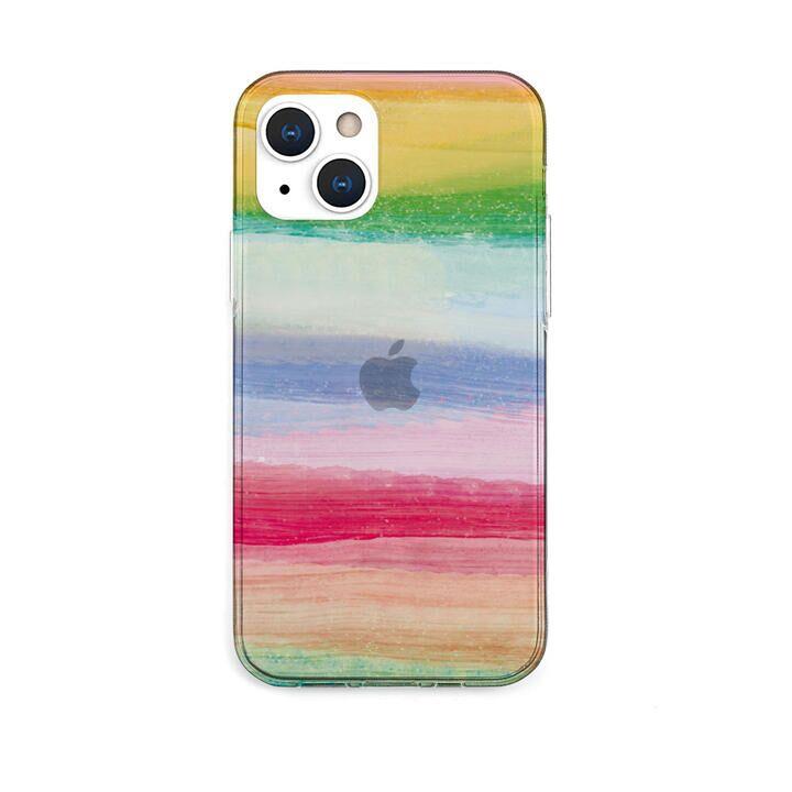 ソフトクリアケース 海の波 トロピカル iPhone 13【10月下旬】_0