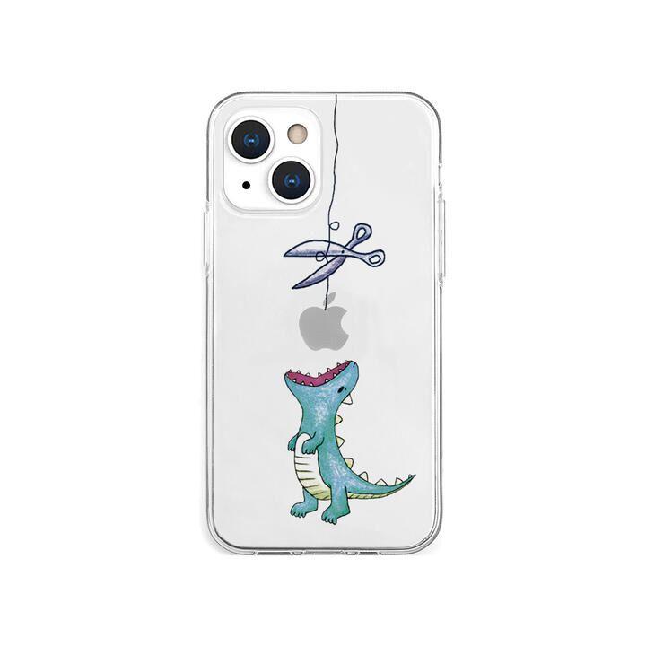 ソフトクリアケース はらぺこザウルス グリーン iPhone 13 mini【10月下旬】_0