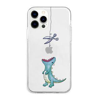 iPhone 13 Pro Max (6.7インチ) ケース ソフトクリアケース はらぺこザウルス グリーン iPhone 13 Pro Max