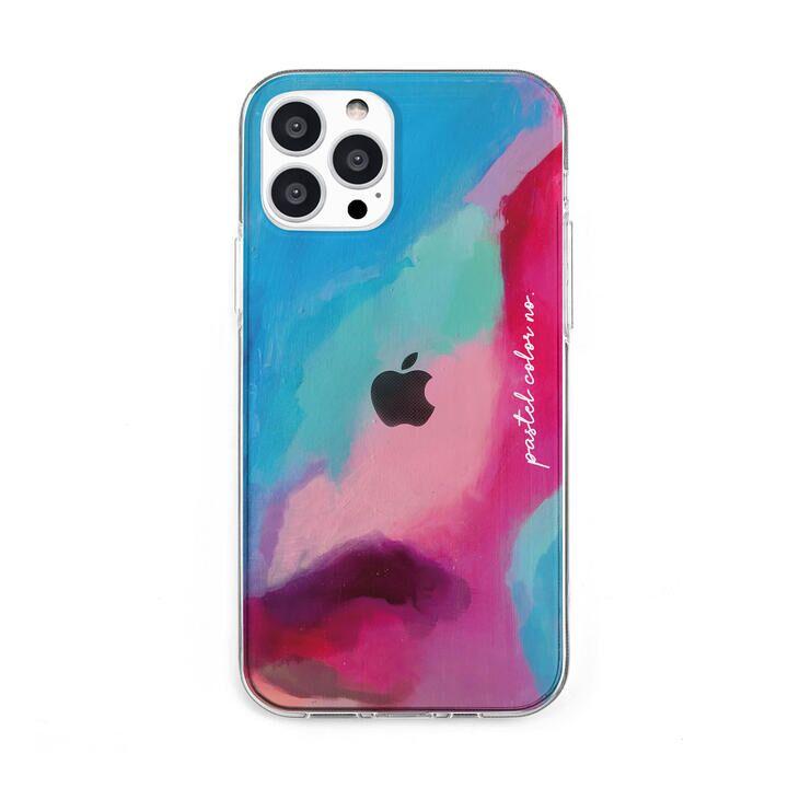 ソフトクリアケース Pastel color PINKBLUE iPhone 13 Pro Max【10月上旬】_0
