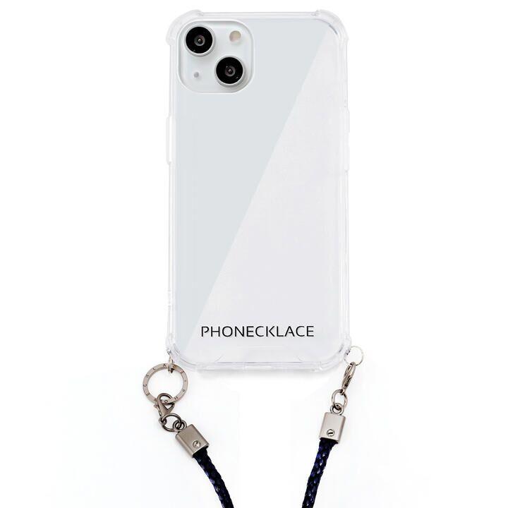 ロープショルダーストラップ付きクリアケース ネイビー iPhone 13【9月下旬】_0