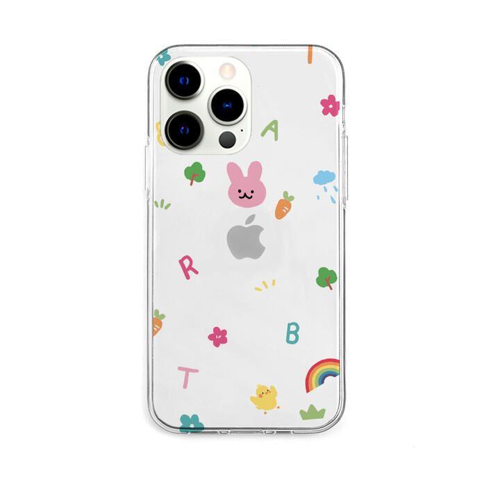 ソフトクリアケース pink usagi iPhone 13 Pro【10月下旬】_0