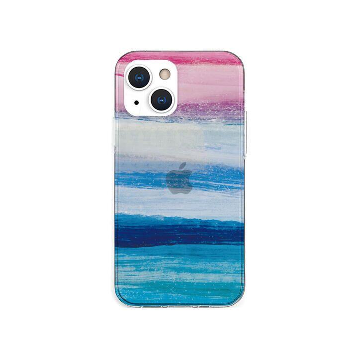 ソフトクリアケース 海の波 ブルー iPhone 13 mini【10月下旬】_0