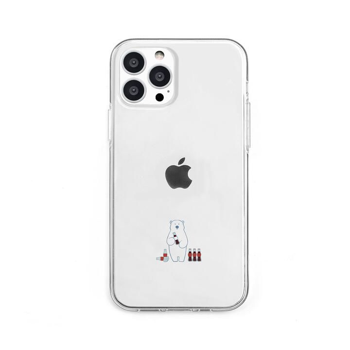 ソフトクリアケース ミニ動物 シロクマ iPhone 13 Pro【10月上旬】_0