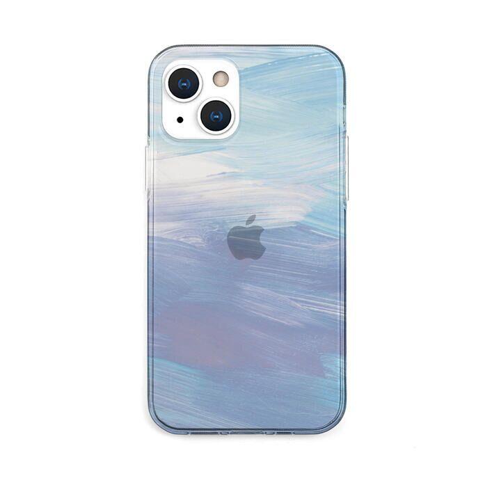 ソフトクリアケース Blue pastel iPhone 13【10月下旬】_0