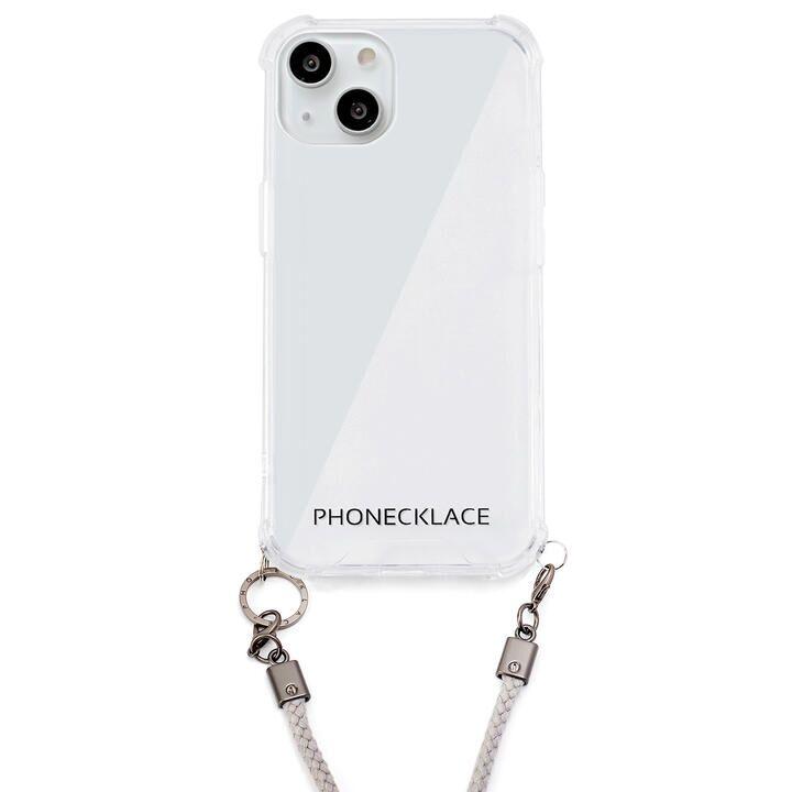ロープショルダーストラップ付きクリアケース グレー iPhone 13【9月下旬】_0