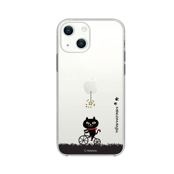 ネコマンジュウクリアケース サイクリング iPhone 13【10月上旬】_0