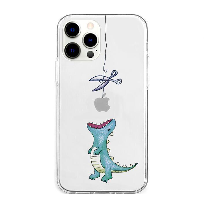 ソフトクリアケース はらぺこザウルス グリーン iPhone 13 Pro Max【10月上旬】_0