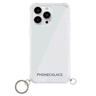 iPhone 13 Pro Max (6.7インチ) ケース ストラップ用リング付きクリアケース シルバーチャーム iPhone 13 Pro Max【10月下旬】