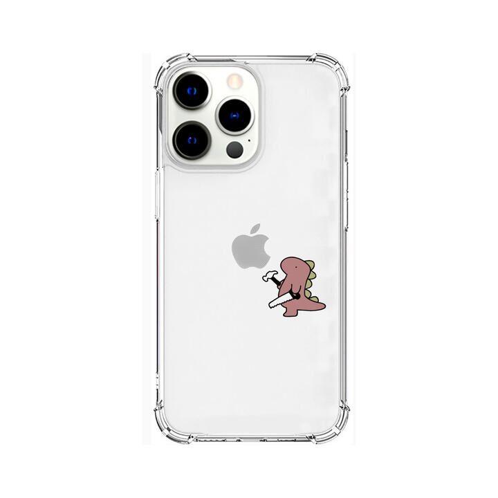 ソフトタフケース おしごとザウルス 日曜大工 ピンク iPhone 13 Pro【10月下旬】_0