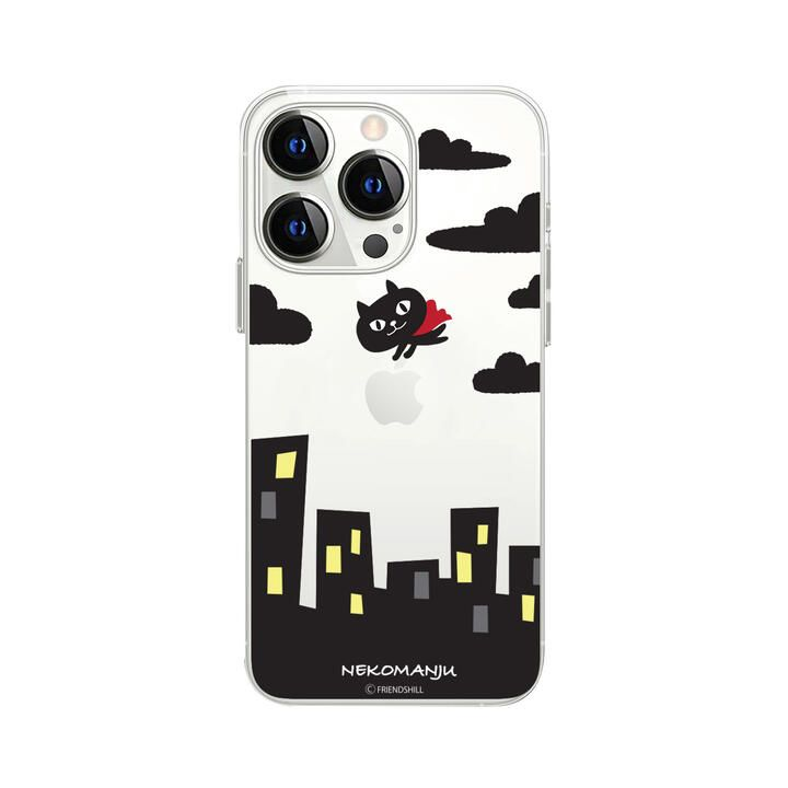 ネコマンジュウクリアケース 赤いマント iPhone 13 Pro【10月上旬】_0