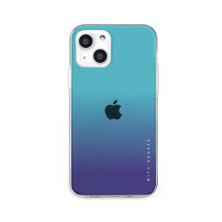 ソフトクリアケース グラデーション エメラルドブルー iPhone 13【10月下旬】_0