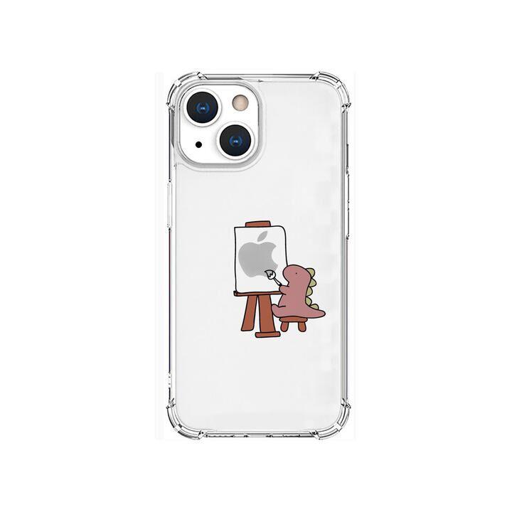 ソフトタフケース おしごとザウルス 画家 ピンク iPhone 13 mini【10月下旬】_0
