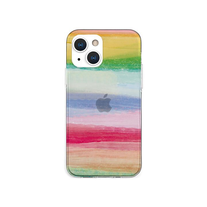 ソフトクリアケース 海の波 トロピカル iPhone 13 mini【10月下旬】_0