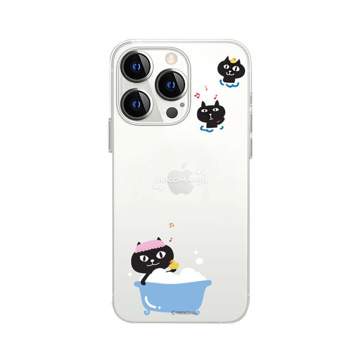 ネコマンジュウクリアケース バスタイム iPhone 13 Pro【10月上旬】_0