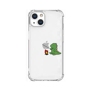 iPhone 13 ケース ソフトタフケース たき火 グリーン iPhone 13【10月下旬】