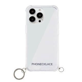 iPhone 13 Pro ケース ストラップ用リング付きクリアケース シルバーチャーム iPhone 13 Pro【10月下旬】
