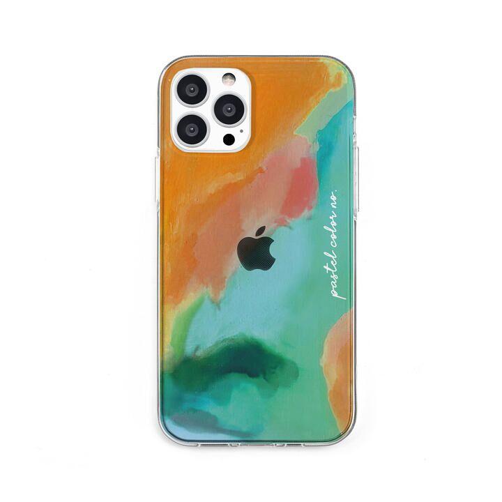 ソフトクリアケース Pastel color OrangeGreen iPhone 13 Pro【10月上旬】_0