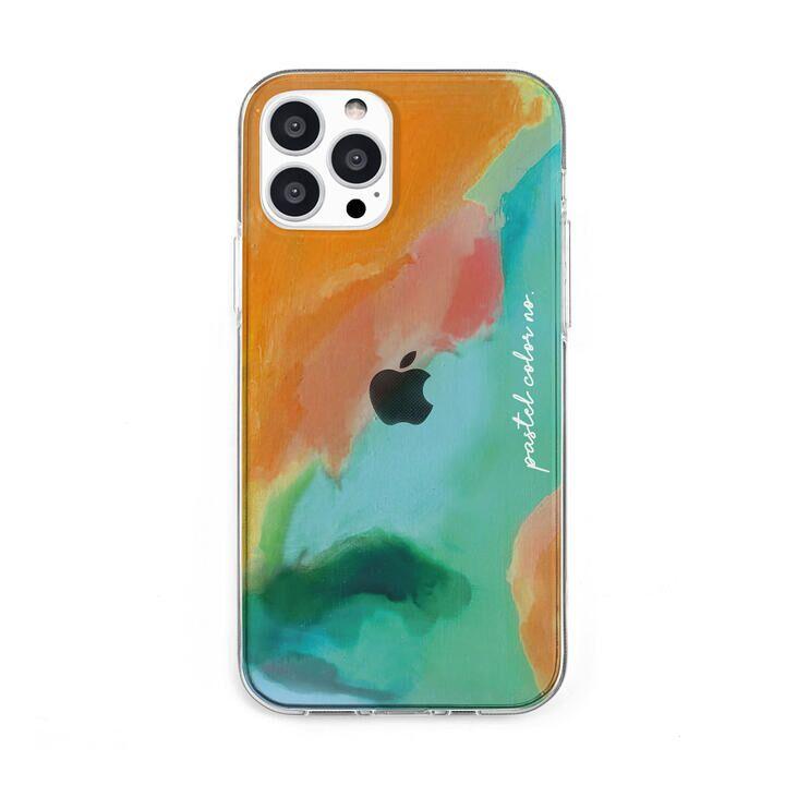 ソフトクリアケース Pastel color OrangeGreen iPhone 13 Pro Max【10月上旬】_0