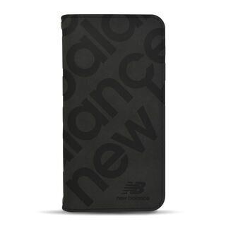 iPhone 13 mini (5.4インチ) ケース new balance 手帳ケース スタンプロゴスエード ブラック iPhone 13 mini