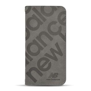 iPhone 13 mini (5.4インチ) ケース new balance 手帳ケース スタンプロゴスエード グレー iPhone 13 mini