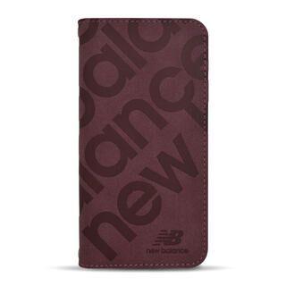 iPhone 13 mini (5.4インチ) ケース new balance 手帳ケース スタンプロゴスエード バーガンディ iPhone 13 mini
