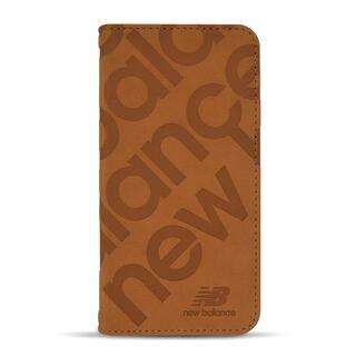 iPhone 13 mini (5.4インチ) ケース new balance 手帳ケース スタンプロゴスエード キャメル iPhone 13 mini