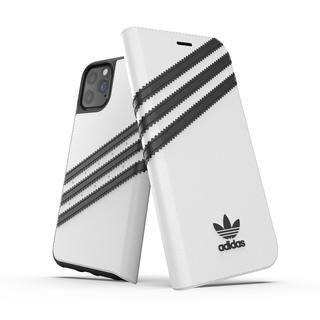 iPhone 11 Pro ケース adidas Originals Booklet Case SAMBA FW19 iPhone 11 Pro White/Back