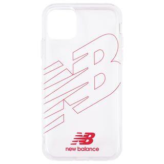 iPhone 11 ケース New Balance TPUクリアケース ライングロゴ/レッド iPhone 11