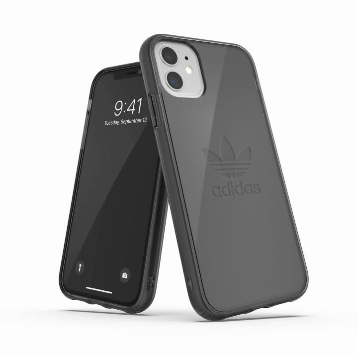 iPhone 11 ケース adidas Originals Protective Clear Case Big Logo FW19 iPhone 11 Smokey Balck_0