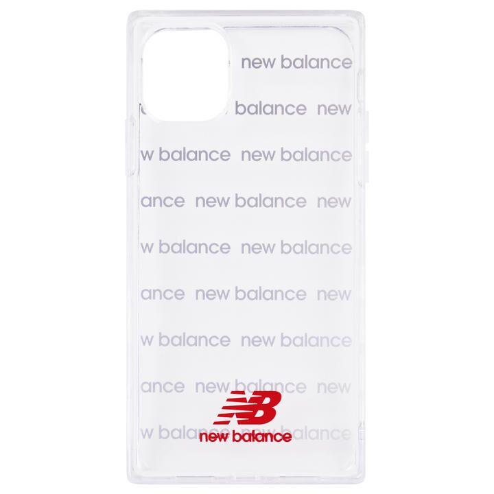 iPhone 11 Pro ケース New Balance スクエア型TPUクリアケース ロゴボーダー/レッド iPhone 11 Pro_0