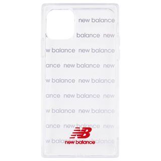 iPhone 11 Pro ケース New Balance スクエア型TPUクリアケース ロゴボーダー/レッド iPhone 11 Pro【1月下旬】