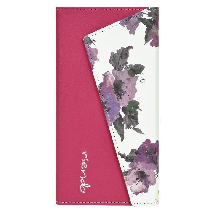 iPhone 11 Pro ケース rienda ロングストラップ・小銭付き3つ折り手帳 Parm Flower/ピンク iPhone 11 Pro_0