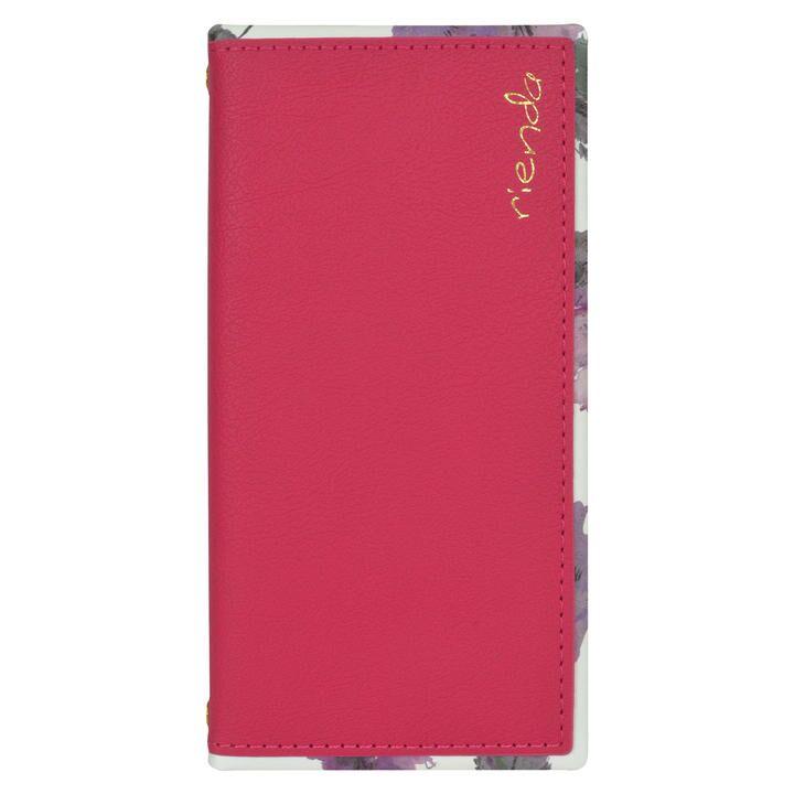 rienda スクエア手帳 Parm Flower/ピンク iPhone 11【9月中旬】_0