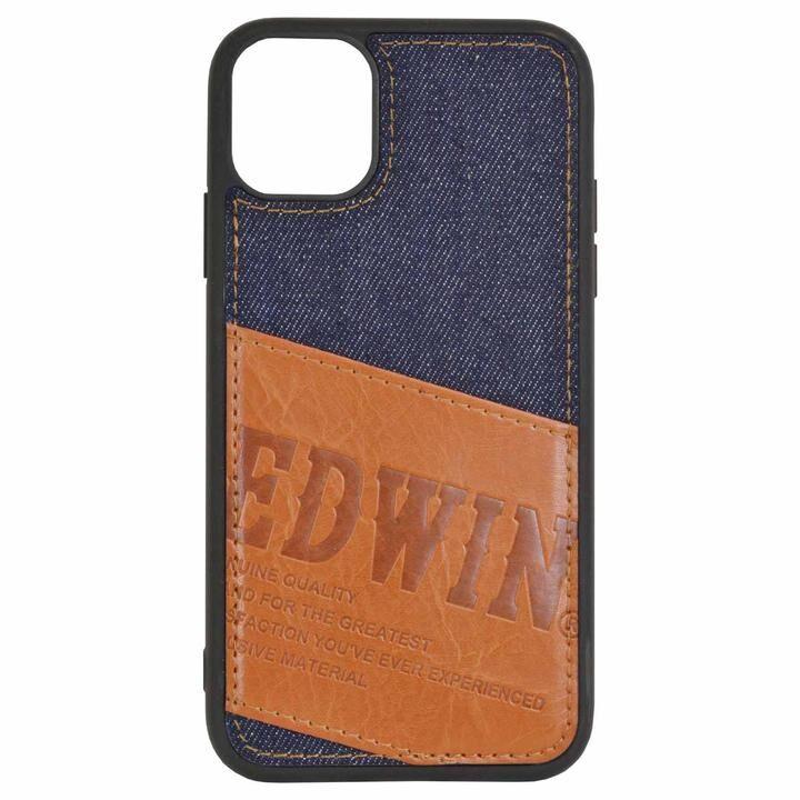 iPhone 11 ケース EDWIN 手帳型ケース パッチワークデニム iPhone 11_0