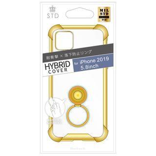 iPhone 11 Pro ケース STD 落下防止リング付属ハイブリットケース ゴールド iPhone 11 Pro