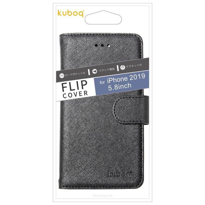 iPhone 11 Pro ケース Kuboq カード収納ポケット付き手帳型ケース ブラック iPhone 11 Pro_0