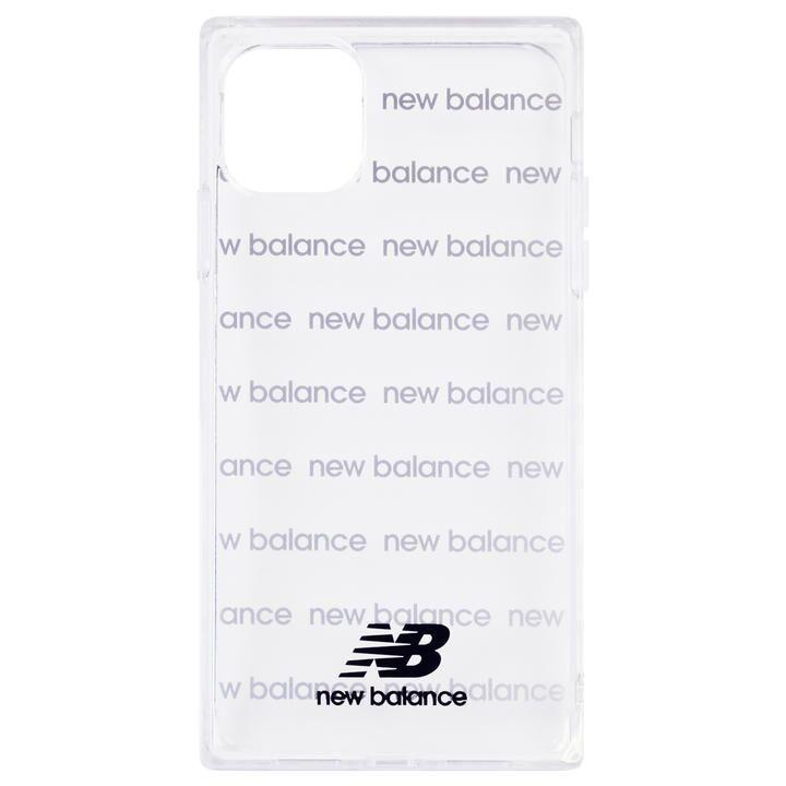 iPhone 11 ケース New Balance スクエア型TPUクリアケース ロゴボーダー/ブラック iPhone 11_0