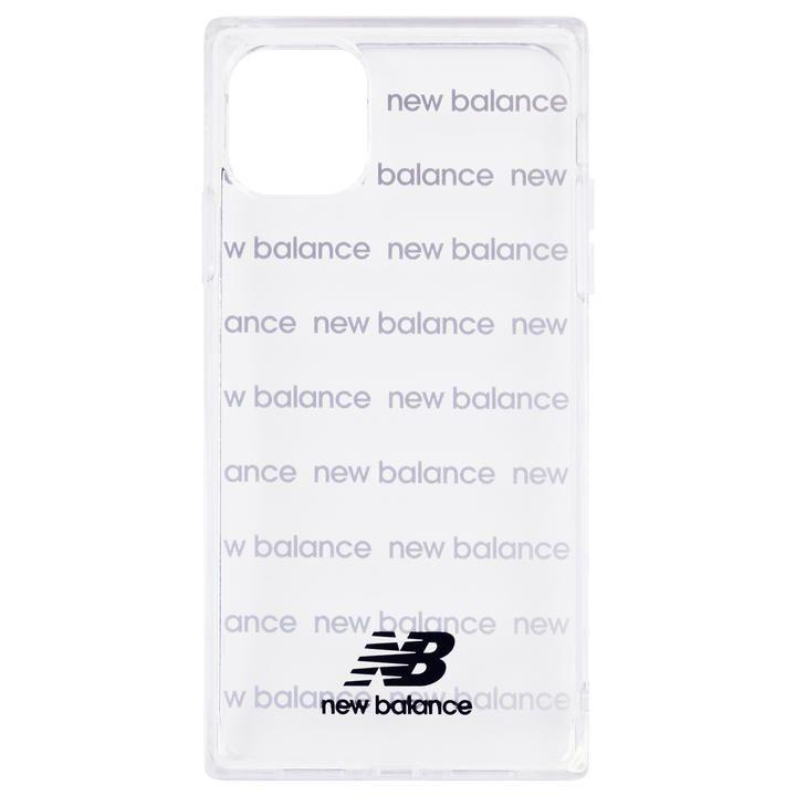 iPhone 11 Pro ケース New Balance スクエア型TPUクリアケース ロゴボーダー/ブラック iPhone 11 Pro_0