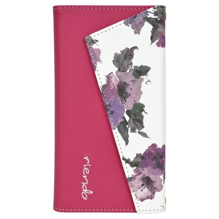 iPhone 11 ケース rienda ロングストラップ・小銭付き3つ折り手帳 Parm Flower/ピンク iPhone 11_0