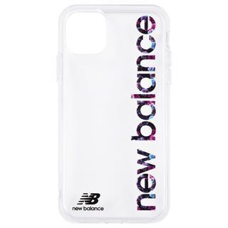 iPhone 11 ケース New Balance TPUクリアケース 縦ロゴ/フラワー柄 iPhone 11