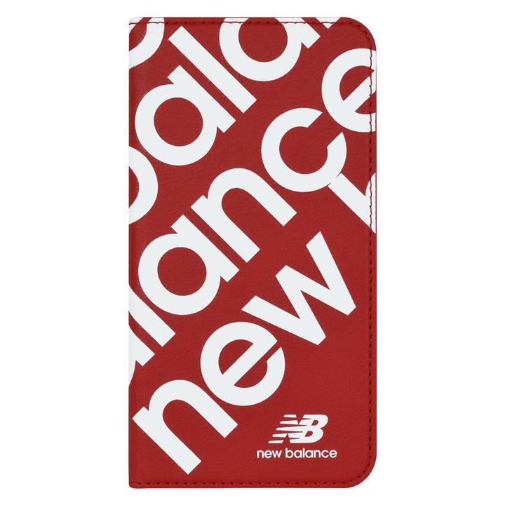 iPhone 11 ケース New Balance スリム手帳ケース スタンプロゴ スタンプロゴ/レッド iPhone 11_0
