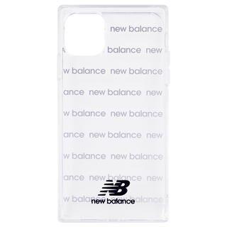 iPhone 11 ケース New Balance スクエア型TPUクリアケース ロゴボーダー/ブラック iPhone 11